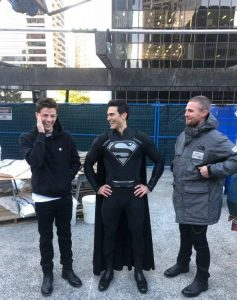 behind the scenes Elseworlds event photo